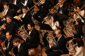 Westfalen Winds und die Omiya City Community Band beim Joint Concert 2015 in Japan
