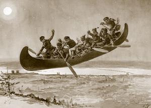 Die Sage vom fliegenden Kanu