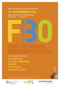 Freiburger Blasorchester Plakat