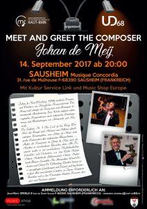 Plakat Meet and Greet Johan de Meij