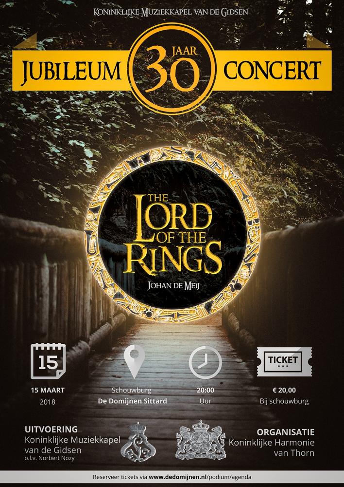 Jubiläumskonzert Lord of the Rings Plakat