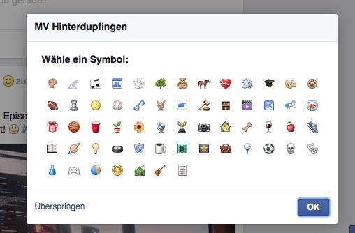 Facebook-Gruppe erstellen: Symbol aussuchen