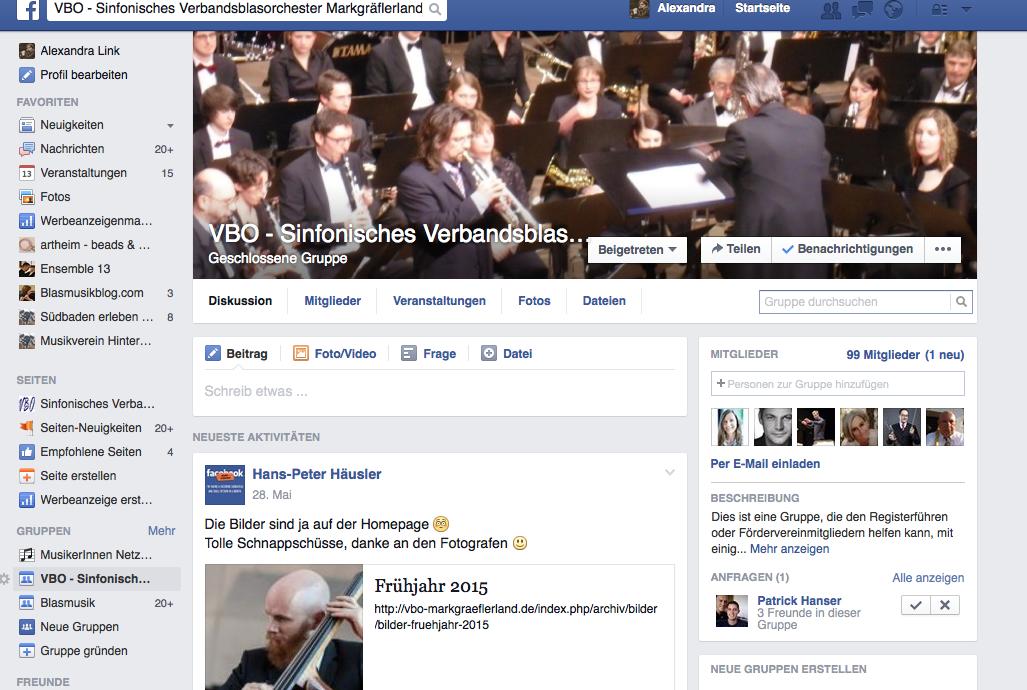 Facebook für Musikvereine – Teil 3 Die Facebook-Gruppe