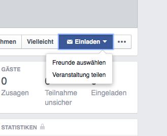 Facebook Musikvereine Veranstaltung