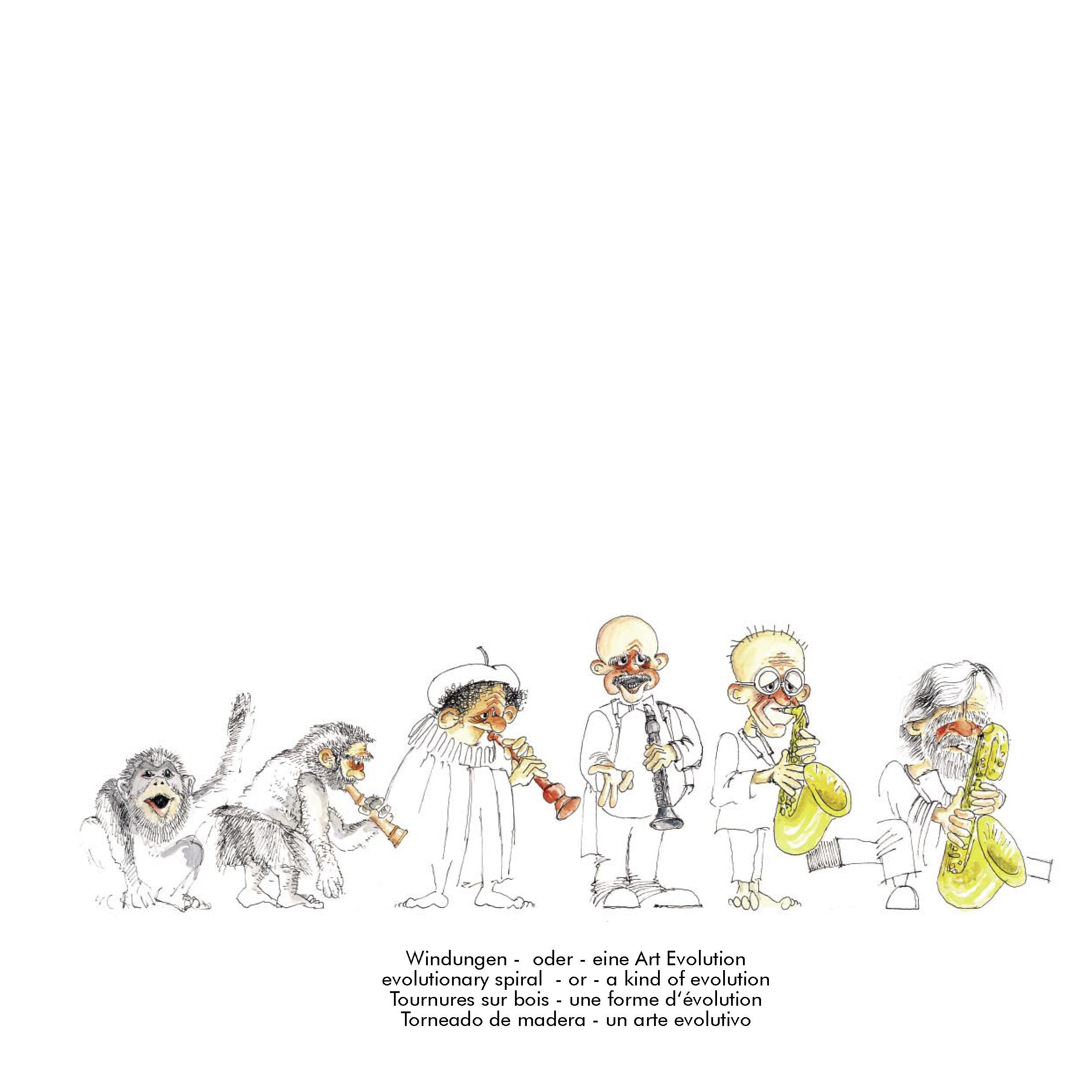 Evolution - Karikatur von Rupert Hörbst
