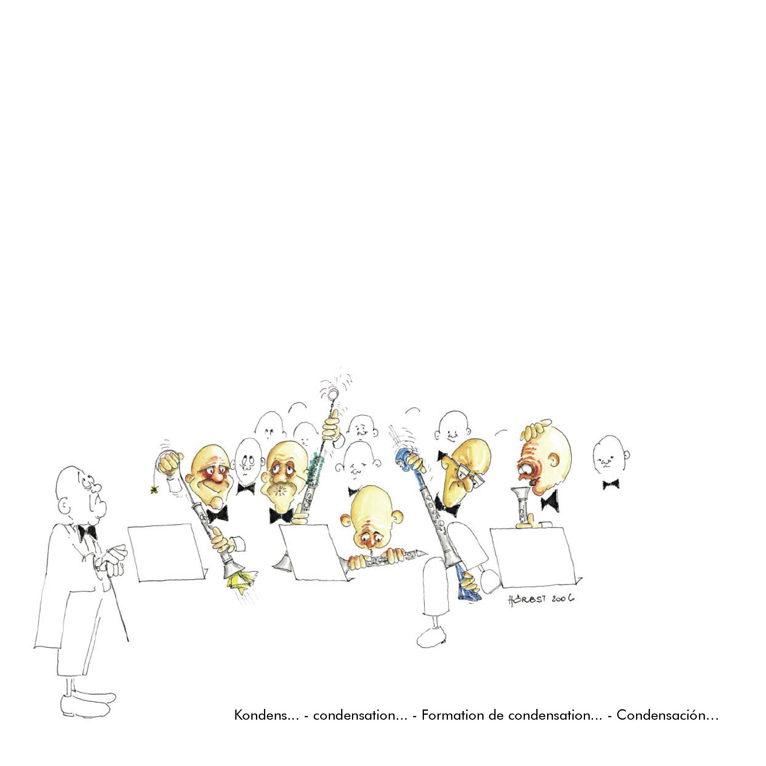Klarinettenkarikatur von Rupert Hörbst