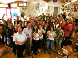Die Musikerinnen und Musiker des MV Fahrnau freuen sich auf Allen Vizzutti