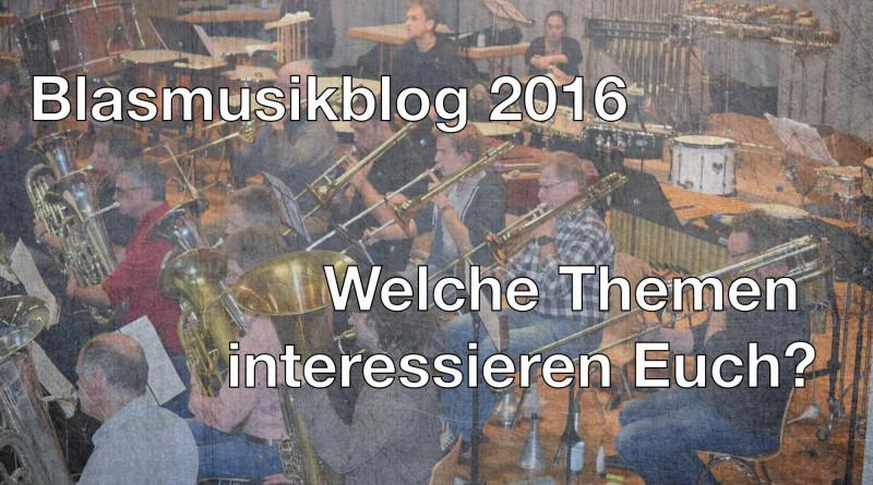Blasmusikblog Umfrage