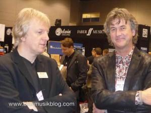 Jan Van der Roost mit seinem Freund und Kollegen Johan de Meij