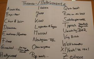 Themen- / Mottokonzerte