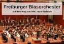 Das Freiburger Blasorchester auf dem Weg zum WMC nach Kerkrade