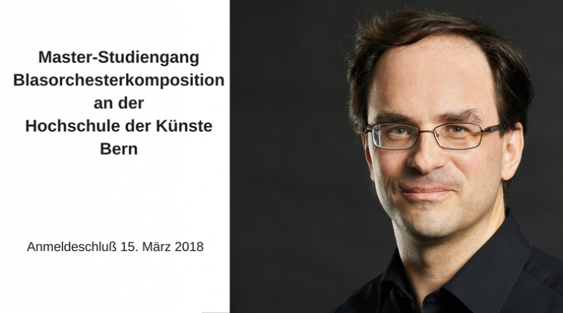 Master-Studiengang Blasorchesterkompositionan derHochschule der Künste Bern