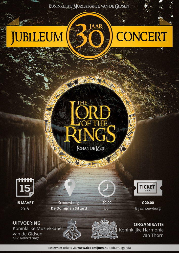 Jubiläumskonzert Lord of the Rings Plakat