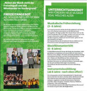 Musikverein Winterbach, Ausbildungsflyer