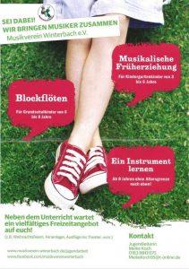 Plakat Jugendangebot Musikverein Winterbach
