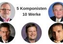 5 Komponisten – 10 neue Werke für Anfänger- und Jugendblasorchester: Eine Auswahl!