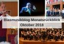 Blasmusikblog Monatsrückblick Oktober 2018