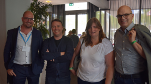Kevin Houben, Ben Haemhouts, Alexandra Link und Jacob de Haan. Kerkrade 2017
