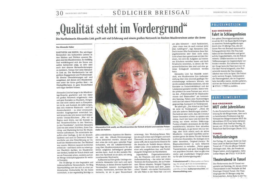Badische Zeitung_2019-01-24