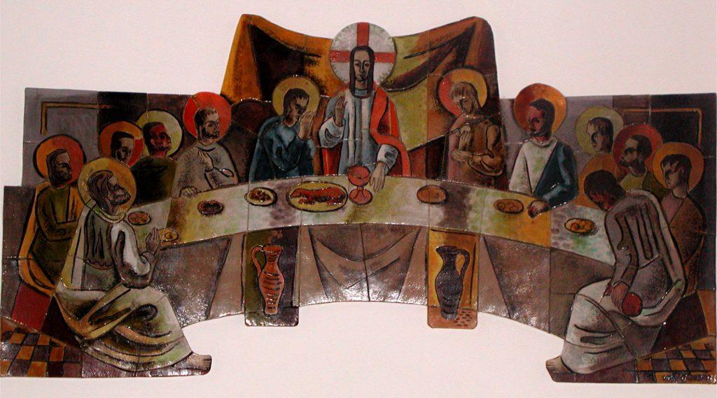 Abendmahl - Altarbild St. Peter und Paul Hartheim