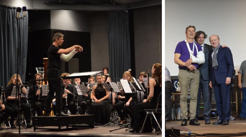 Zoltan Kiss mit der Bartok Concert Wind Band