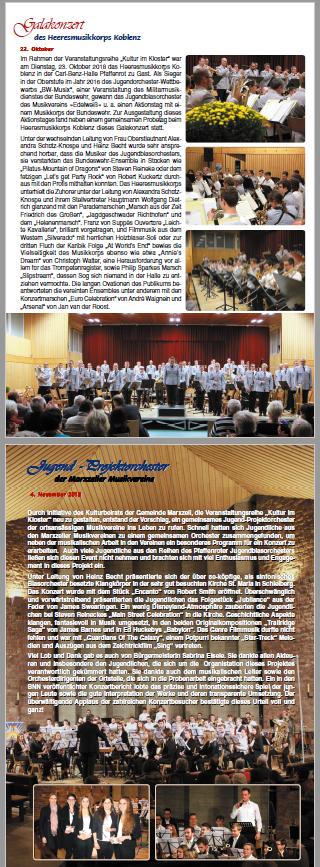 Die jährliche Vereinszeitschrift des Musikvereins _Edelweiß_ Pfaffenrot