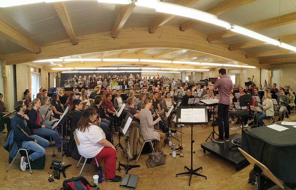 Das LBO mit dem Kammerchor Heidenheim bei den Proben