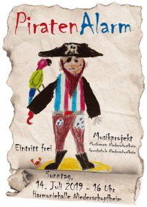 Plakat Piratenalarm Niederschopfheim