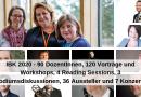 IBK 2020: 90 DozentInnen, 120 Vorträge und Workshops, 4 Reading Sessions, 3 Podiumsdiskussionen, 36 Aussteller und 7 Konzerte
