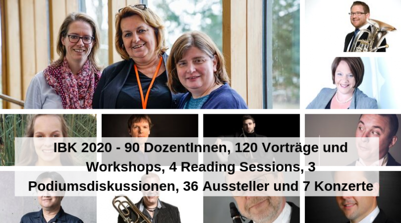IBK 2020 - 90 DozentInnen, 120 Vorträge und Workshops, 4 Reading Sessions, 3 Podiumsdiskussionen, 36 Aussteller und 7 Konzerte