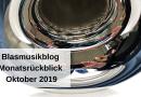Blasmusikblog Monatsrückblick Oktober 2019