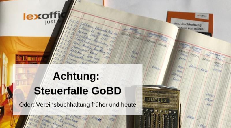 Steuerfalle GoBD Vereinsbuchhaltung