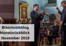 Blasmusikblog Monatsrückblick November 2019