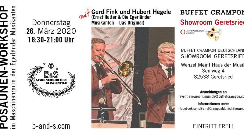 Posaunen-Workshop mit Gerd Fink und Hubert Hegele