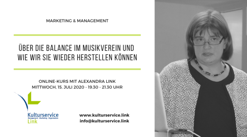 Marketing & Management Balance Termin Juli 2020 Facebook