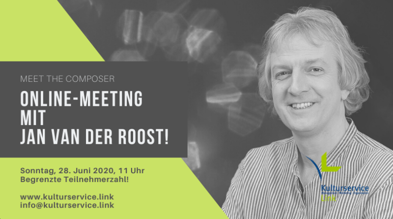 Online-Meeting mit Jan Van der Roost! Facebook