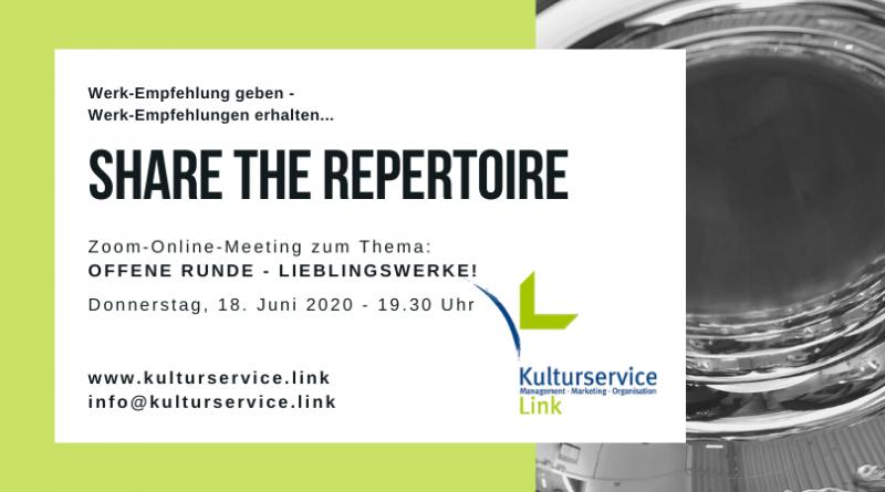 Share the Repertoire Offene Runde Lieblingswerke Facebook