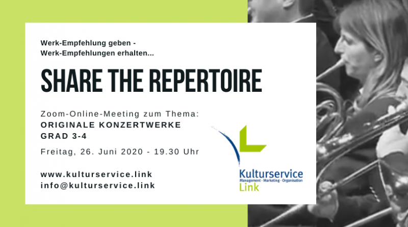 Share the Repertoire Werke Grad 3-4 Facebook