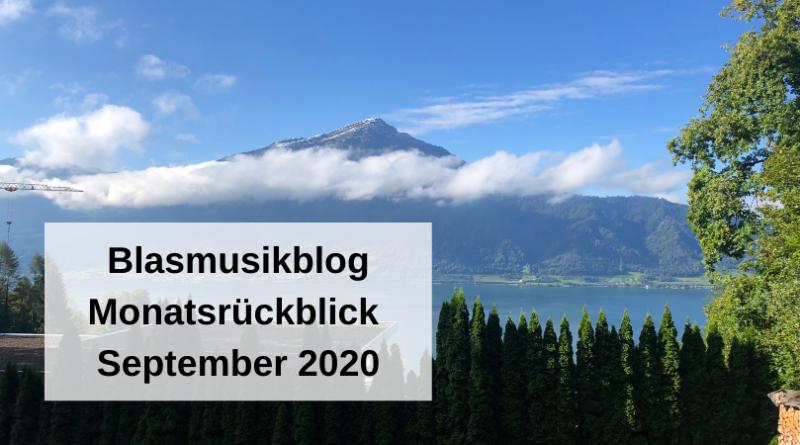 Blasmusikblog Monatsrückblick September 2020
