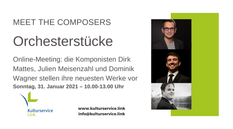 Meet the Composers Dominik, Dirk, Julien