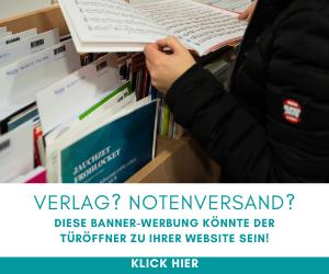 Bannerwerbung Noten Verlag