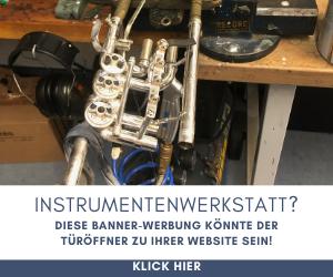 Bannerwerbung Instrumentenwerkstatt