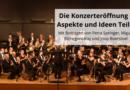 Die Konzerteröffnung – Aspekte und Ideen Teil 2