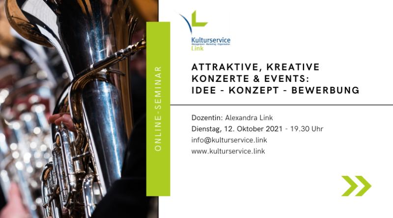 Online-Seminar Konzerte Evenbrite